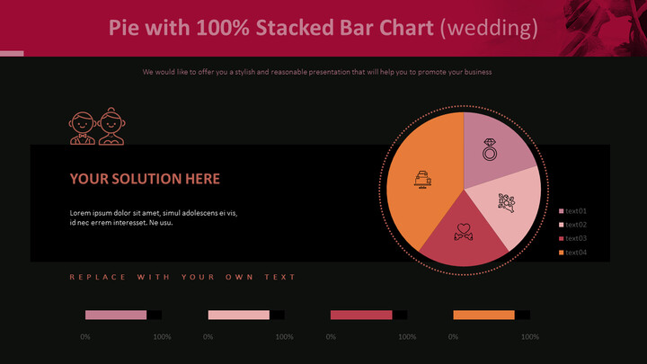 Pie with 100% Stacked Bar Chart (Wedding)_02