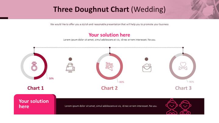 3 개의 도넛 형 차트 (결혼식)_01