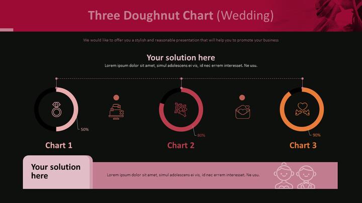 3 개의 도넛 형 차트 (결혼식)_02