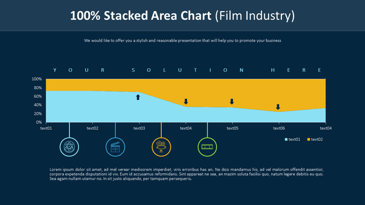 100% Stacked Area Chart (Film Industry)_01