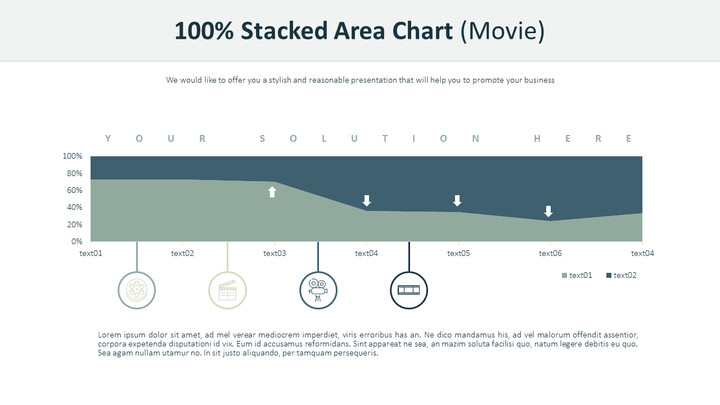 100% Stacked Area Chart (Film Industry)_02
