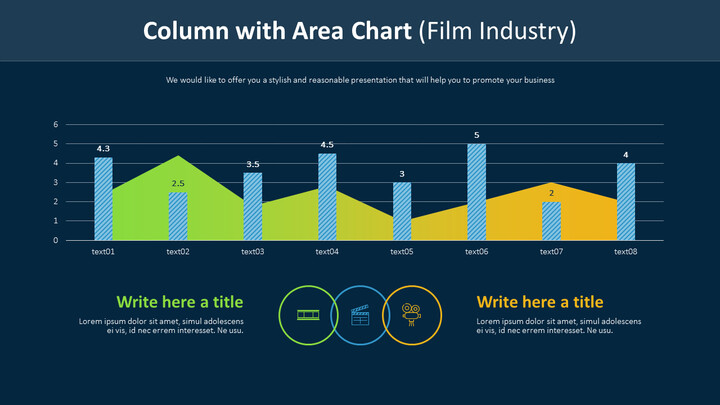 Column with Area Chart (Film Industry)_01