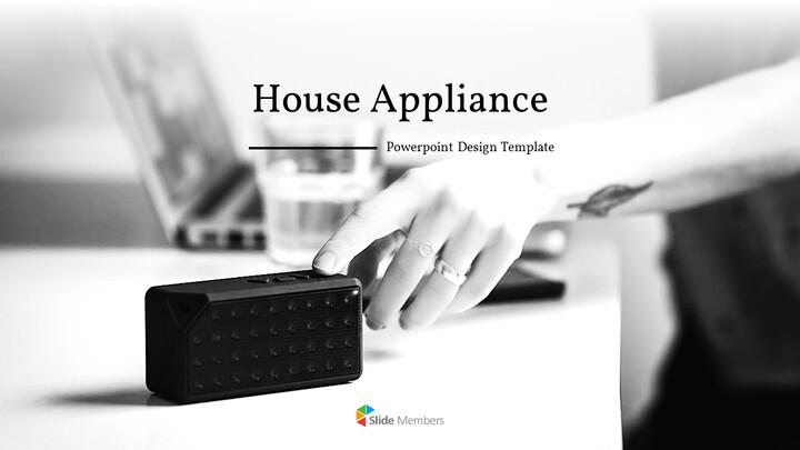 가정용 기기 테마 프레젠테이션 템플릿_01