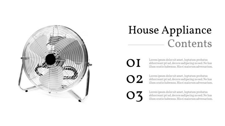가정용 기기 테마 프레젠테이션 템플릿_02