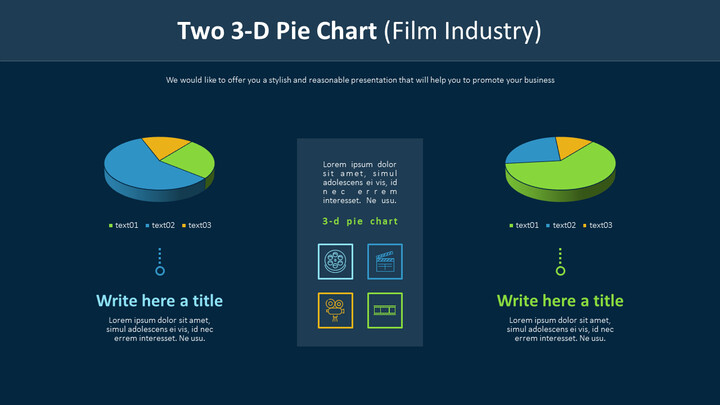 Two 3-D Pie Chart (Film Industry)_01