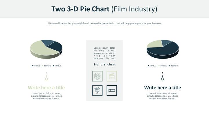 2 개의 3 차원 원형 차트 (영화 산업)_02