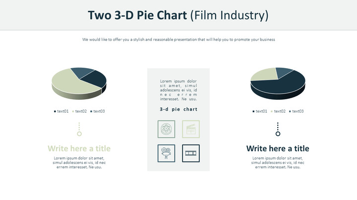 Two 3-D Pie Chart (Film Industry)_02