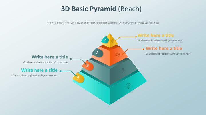 3D Basic Pyramid Diagram (Beach)_01