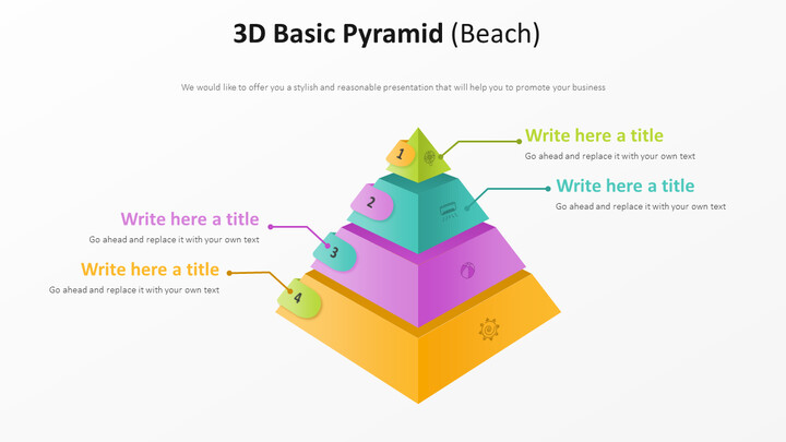 3D Basic Pyramid Diagram (Beach)_02