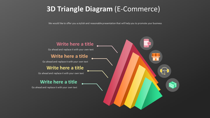 3D 삼각형 다이어그램 다이어그램 (전자 상거래)_01