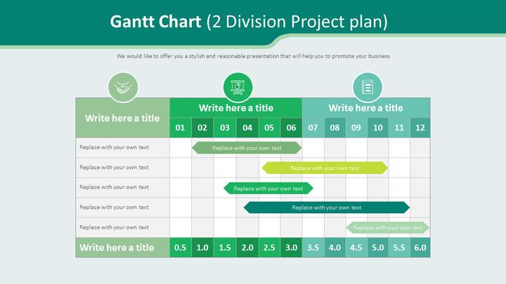 간트 차트 다이어그램 (2 부문 프로젝트 계획)_02