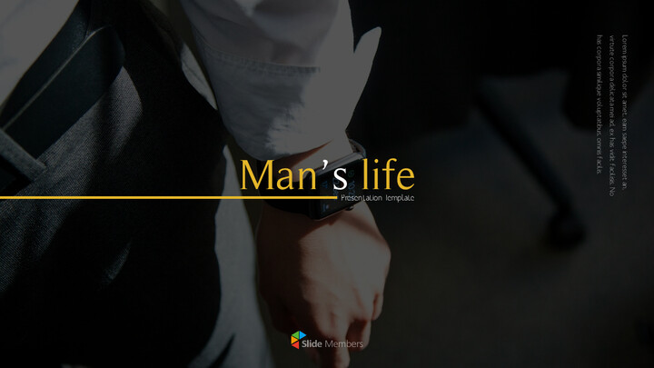Man\'s life Professional PPT_01
