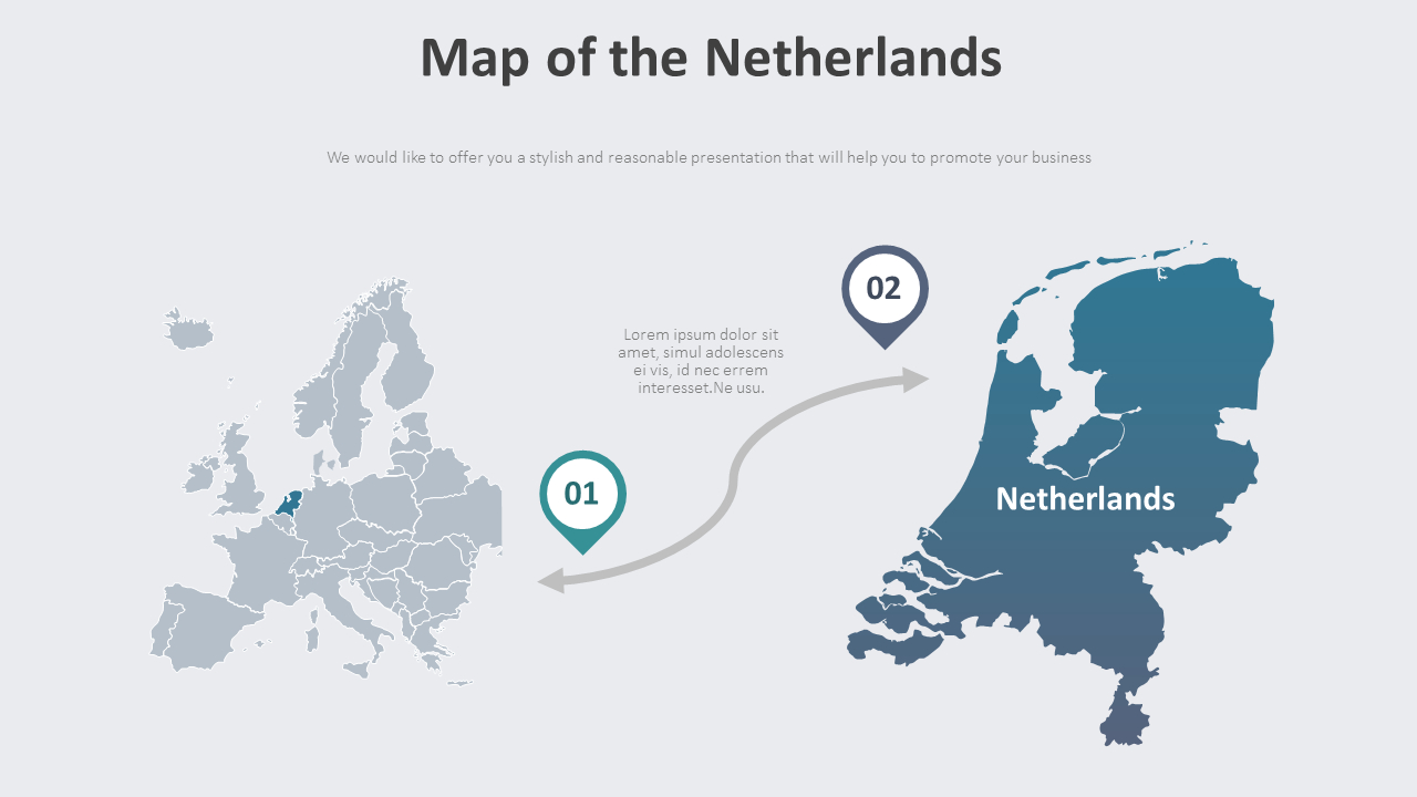 Map Of The Netherlands Diagram