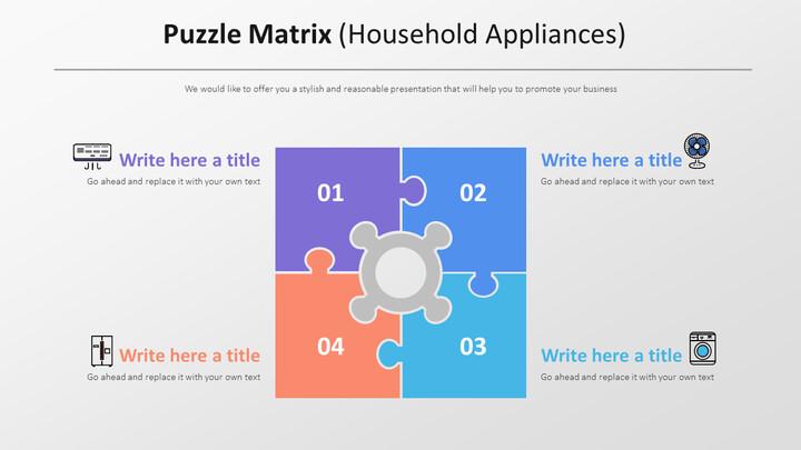 Puzzle Matrix Diagram (Household Appliances)_01