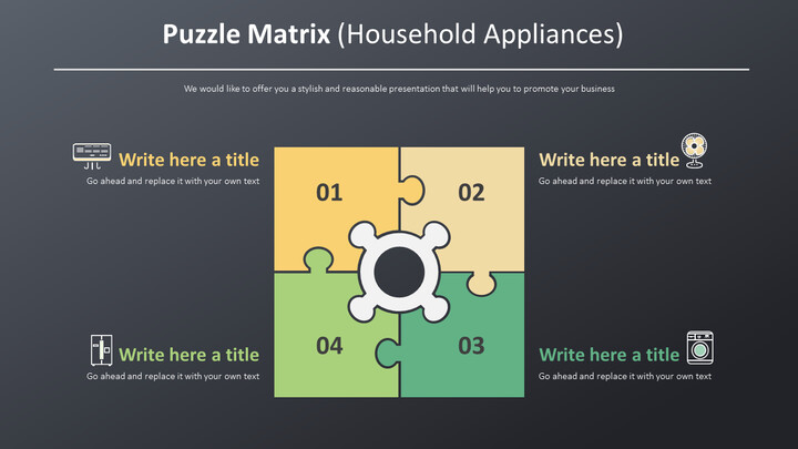 Puzzle Matrix Diagram (Household Appliances)_02