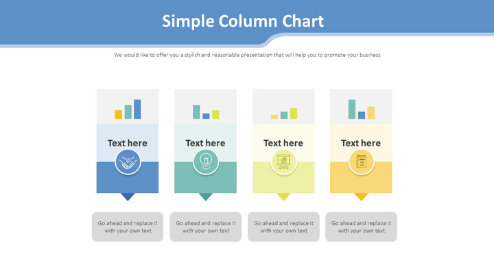 Simple Column Chart Diagram_01