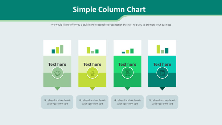 Simple Column Chart Diagram_02