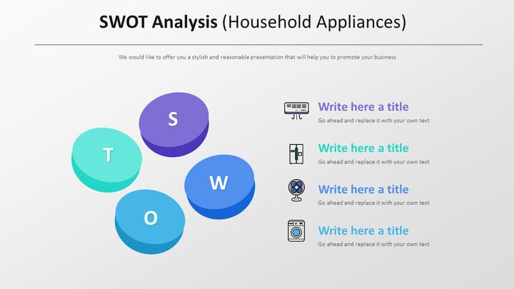 SWOT 분석 다이어그램 (가전 제품)_01