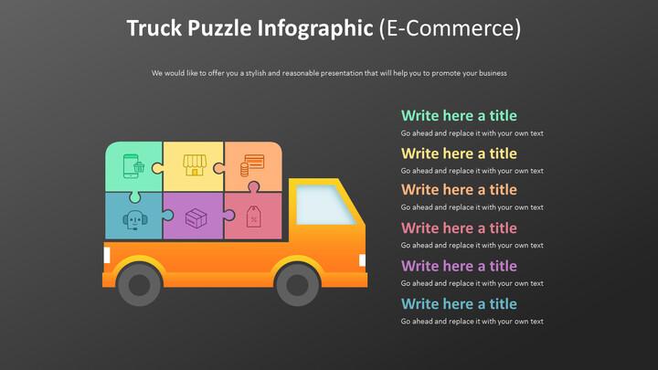 트럭 퍼즐 Infographic 다이어그램 (전자 상거래)_01