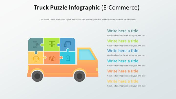 트럭 퍼즐 Infographic 다이어그램 (전자 상거래)_02