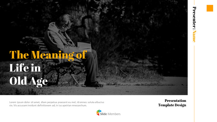 The Meaning of Life in Old Age Best PowerPoint Templates_01