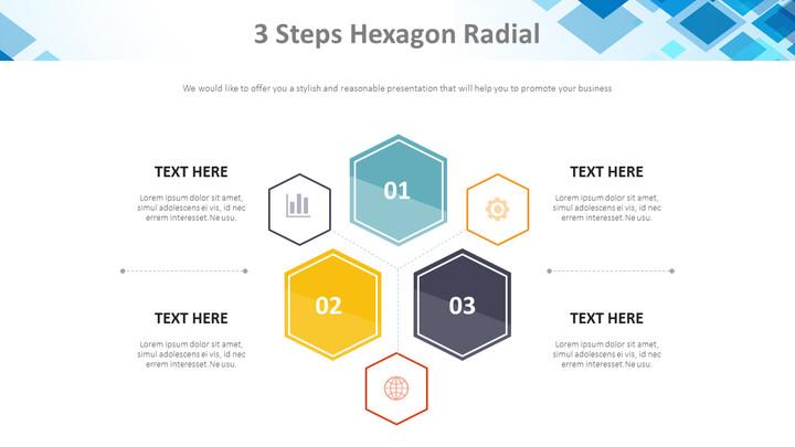 Hexagon 방사형 3 단계 다이어그램_01