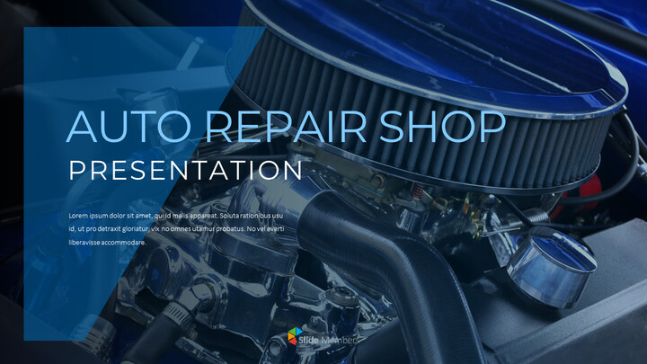 Auto Repair Shop PowerPoint Design Download_01