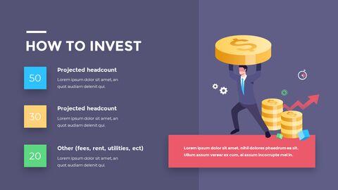 금융 비즈니스 크리에이티브 보고서 피피티 템플릿 디자인_13