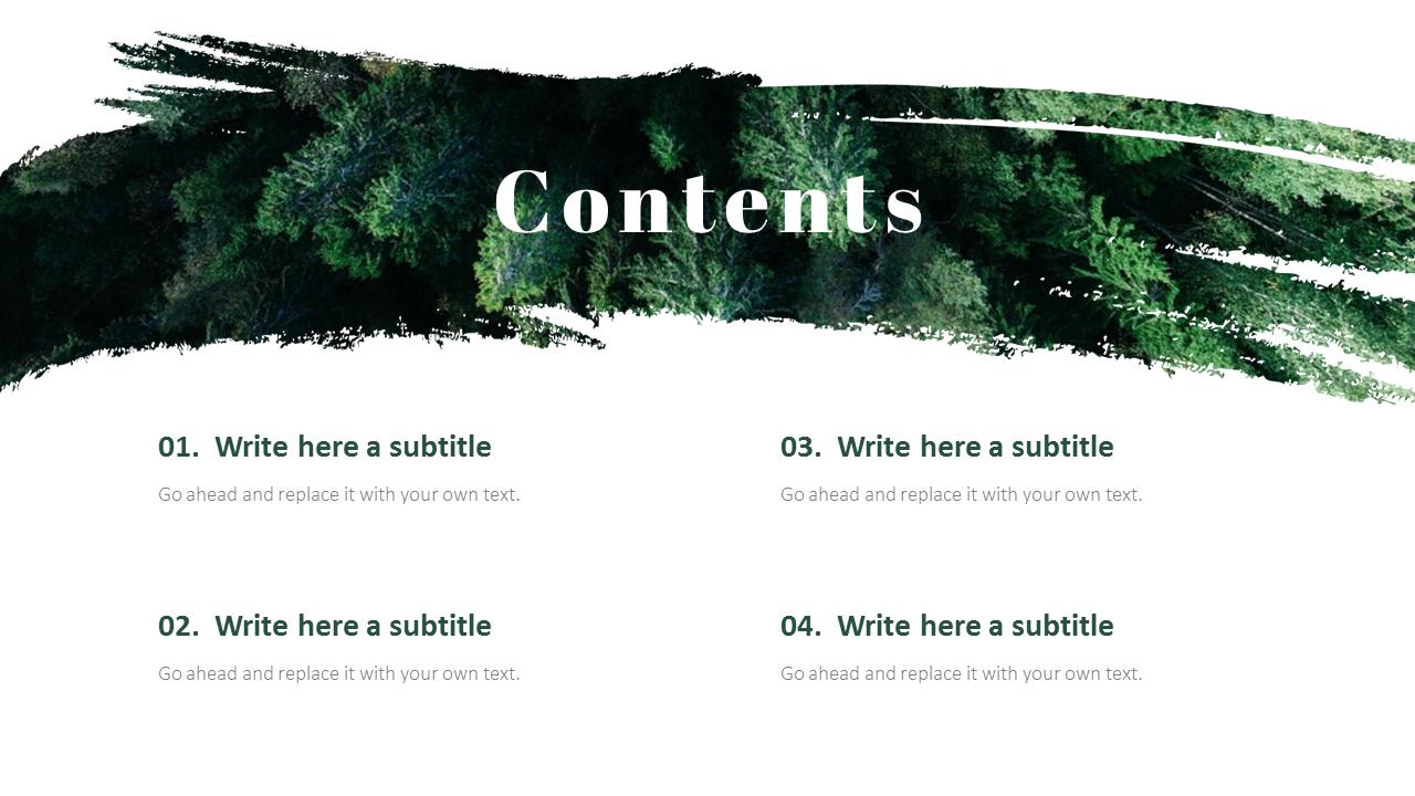 Forest Powerpoint Templates Multipurpose Design