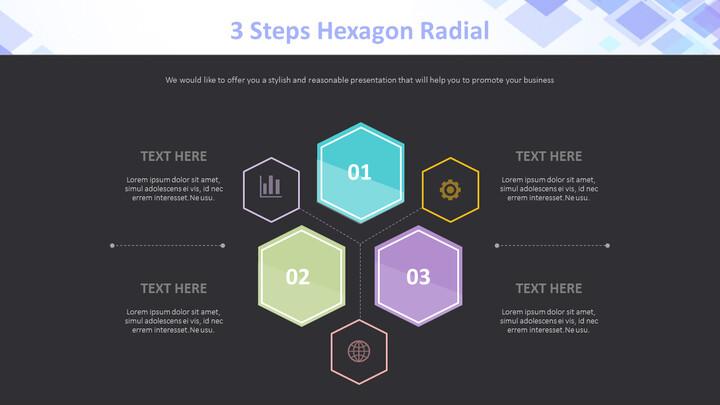 Hexagon 방사형 3 단계 다이어그램_02