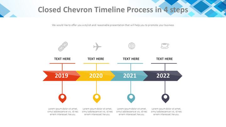 4 단계 Chevron Timeline 프로세스 다이어그램_01