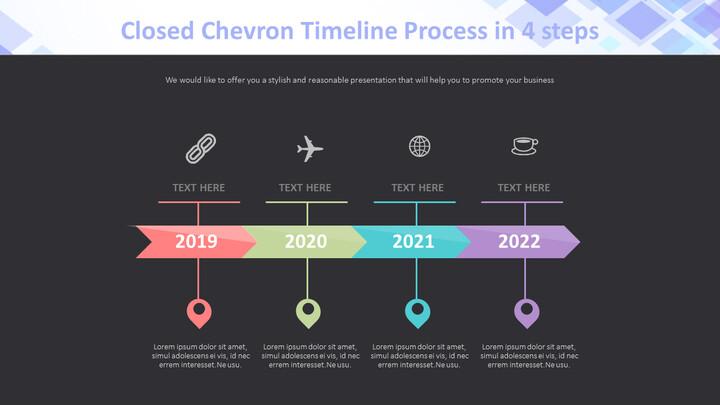 4 단계 Chevron Timeline 프로세스 다이어그램_02