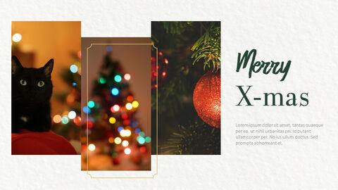 메리 크리스마스 프레젠테이션용 PowerPoint 템플릿_18