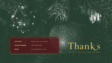 메리 크리스마스 프레젠테이션용 PowerPoint 템플릿_33
