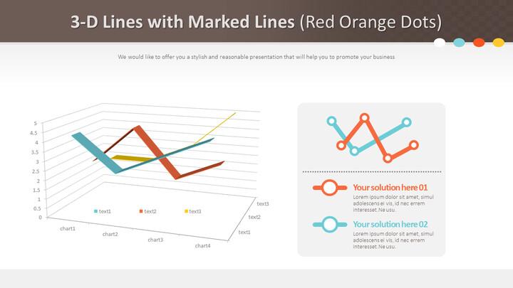 표시된 선이있는 3 차원 선 (빨간색 주황색 점)_01