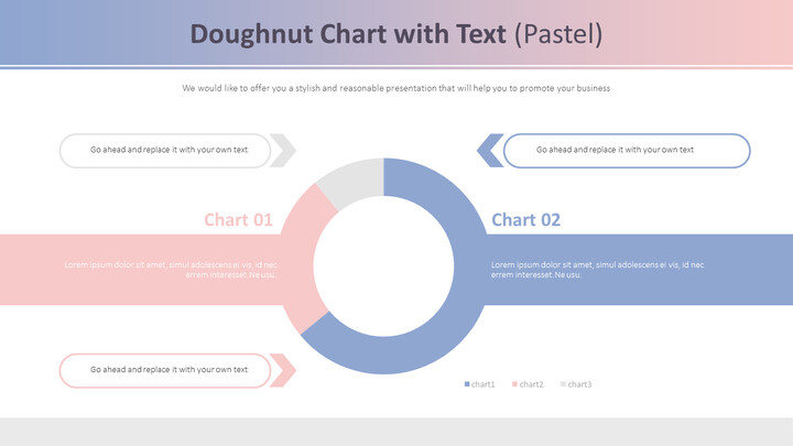 Doughnut Chart with Text (Pastel)_01