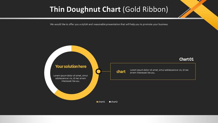 얇은 도넛 형 차트 (골드 리본)_01