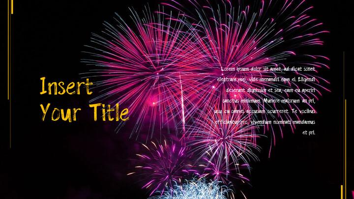 불꽃 축제 테마 PPT 템플릿_02