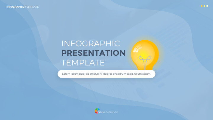 Infographic Flat Design Template Business Strategy PPT_01