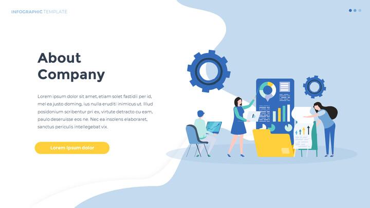 Infographic 평면 디자인 서식 파일 비즈니스 전략 파워포인트_02