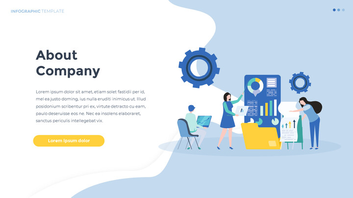 Infographic Flat Design Template Business Strategy PPT_02