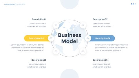 Infographic Flat Design Template Business Strategy PPT_03