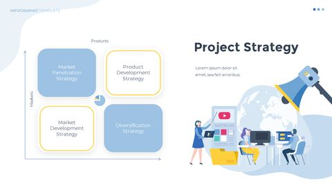 Infographic 평면 디자인 서식 파일 비즈니스 전략 파워포인트_09