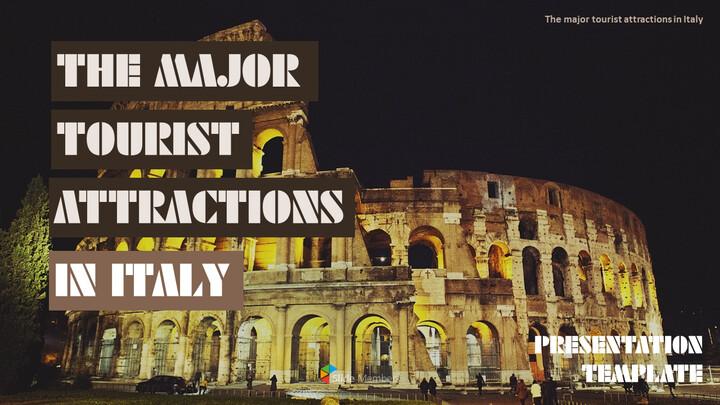 The Major Tourist Attractions In Italy Theme PPT Templates_01