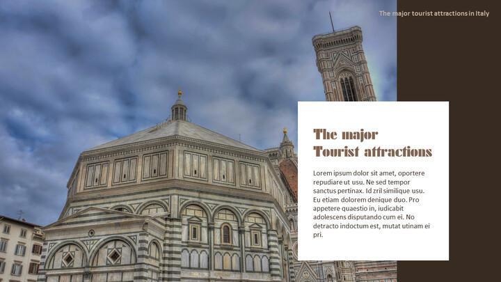 이탈리아의 주요 관광 명소 테마 PPT 템플릿_02