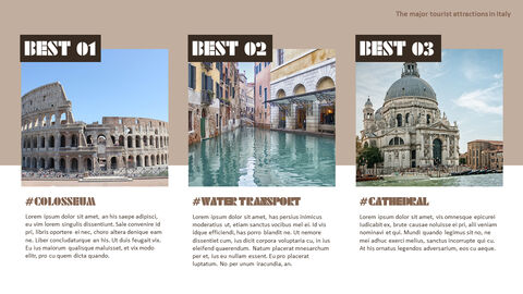 The Major Tourist Attractions In Italy Theme PPT Templates_02