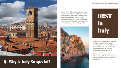 The Major Tourist Attractions In Italy Theme PPT Templates_03