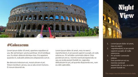 이탈리아의 주요 관광 명소 테마 PPT 템플릿_07