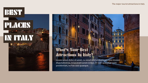 The Major Tourist Attractions In Italy Theme PPT Templates_04