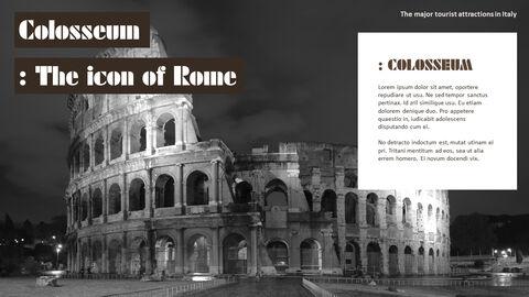이탈리아의 주요 관광 명소 테마 PPT 템플릿_10